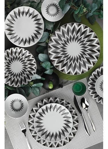 Kütahya Porselen Nano 24 Parça Yemek Seti 885143 Renkli